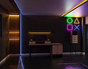 led Gaming Room 3D model