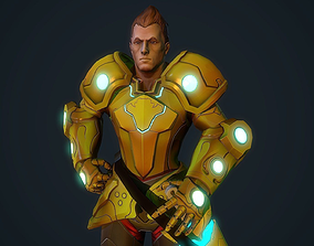 3D model Handpainted stylized Hero