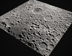 Moon Surface 3D asset