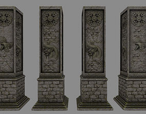3D model game-ready pillar 11