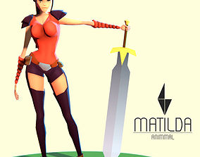 3D model Matilda - Stylized Action Adventure and RPG