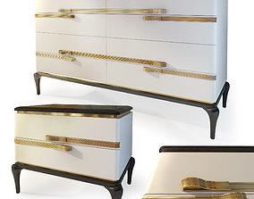 3D model Dresser bedside table Dilan by AR Arredamenti