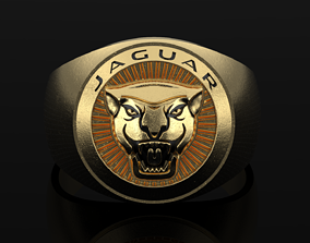 Jaguar Ring black panther 3D print model