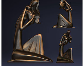 3D print model MOTHER AND SON - STYLIZED FIGURE SCULPTURE