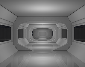incubator Sci Fi Corridor 3D model low-poly