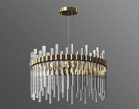 orion glass crystal chandelier cb2 3D model