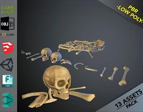 Skulls1 Stylized Bones 3D asset