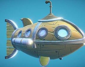 3D model Steampunk Fish Submarine