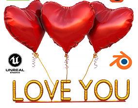 Love you ball 3D model