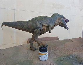 3D print model T-REX in a position defending prey