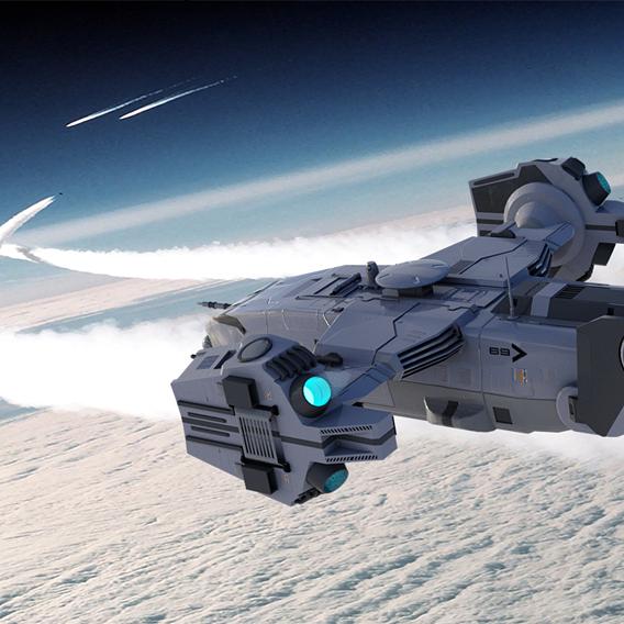 Sci-fi Dropship