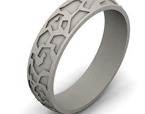 Ring 3D print model jewellery silver