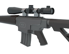 3D model weapons Sniper Rifle