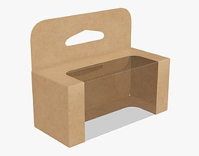 Hanging cardboard display box retail 05 3D model