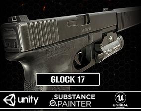 3D asset Glock 17 Gen 4