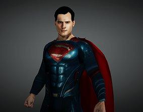 3D asset rigged Superman
