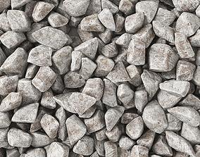 3D Rock stone granite