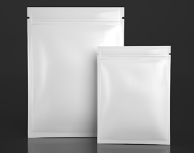 3D model 3 Side Seal Pouch - Packaging