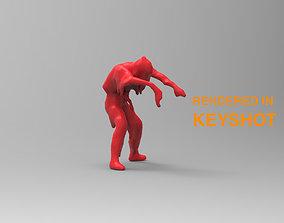3D ZOMBIE silhouette
