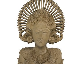 Wooden Bali statue 3D model