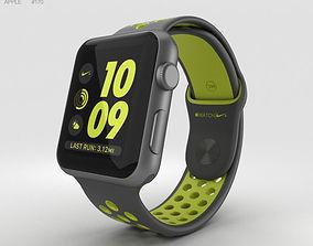 3D model Apple Watch Nike 42mm Space Gray Aluminum Case 2