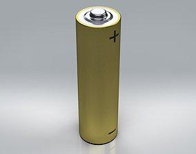 3D model batteries AA Battery