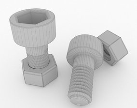 A screw and an internal screw 3D