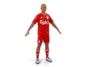 Soccer Player Liverpool 3D