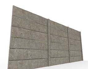 3D model concrete wall