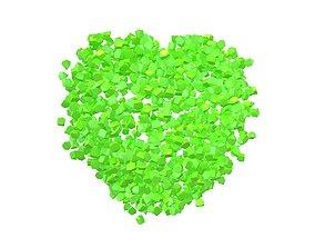 3D model Voxel Heart Rock Style v1 004