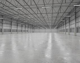 Warehouse Interior 9 3D asset game-ready