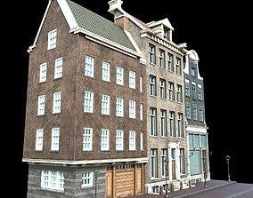 3D asset low-poly European Buildings