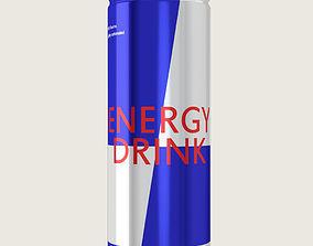Energy Drink Aluminium Can 3D asset