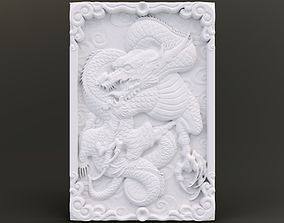 3D printable model Dragon Wall Ornament