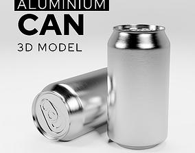 Aluminum soda can 3D model drink