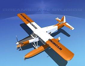 3D model DeHavilland DHC-2 Turbo Beaver V06