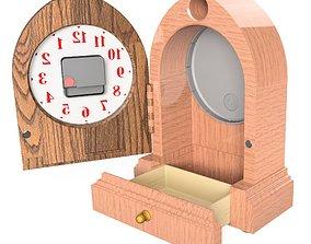 Drawer Clock - Design A1 3D printable model wallmount