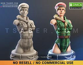 3D printable model Super Soldier Cammy Bust