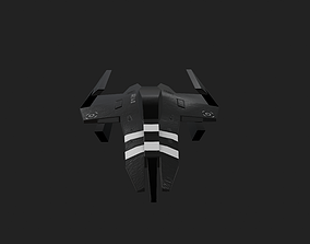 fighter Spaceship 3D model VR / AR ready