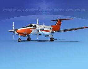 3D Beechcraft UC-12Q Huron V03 USN