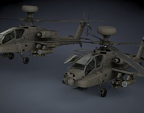 Boeing AH-64D Apache Longbow Helicopter 3D asset