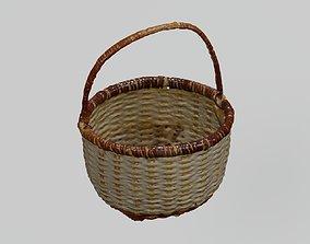 3D asset Wicker Mini Basket photogrammetry scan PBR 4K 1