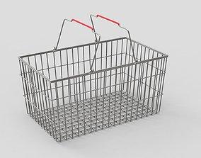 Shopping Metall Basket 3D