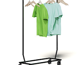 Market Rack 3D Model - Clothes rack