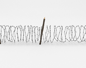 fortification 3D model Barb Wire Obstacle