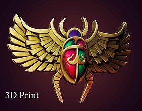 scarab bas-relief 3D print model