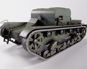 Artillery tractor T-26T mod 1933 year 3D asset