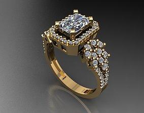 3D print model T083- Diamond ring
