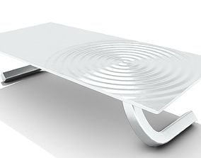 3D Chrome Ripple Table Top Coffee Table
