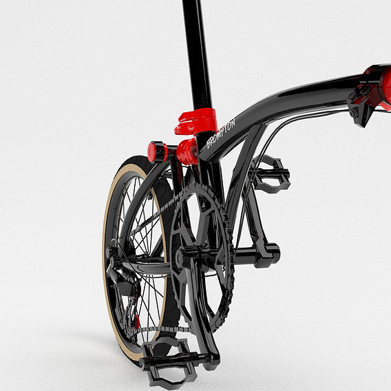 Brompton chpt3 bicycle 3d max modelling